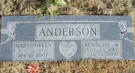 ANDERSON, MARY HELEN - Benton County, Arkansas | MARY HELEN ANDERSON - Arkansas Gravestone Photos