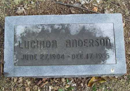 ANDERSON, LUCINDA - Benton County, Arkansas | LUCINDA ANDERSON - Arkansas Gravestone Photos