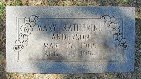 ANDERSON, MARY KATHERINE - Benton County, Arkansas | MARY KATHERINE ANDERSON - Arkansas Gravestone Photos