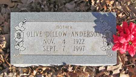 DILLOW ANDERSON, OLIVE - Benton County, Arkansas | OLIVE DILLOW ANDERSON - Arkansas Gravestone Photos