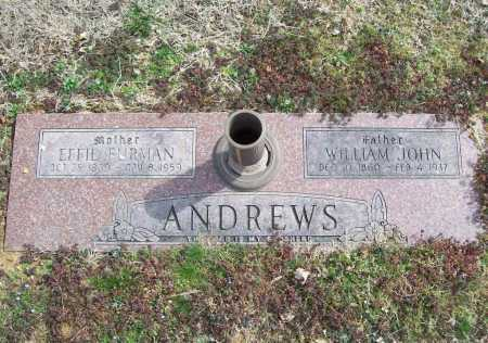 ANDREWS, EFFIE - Benton County, Arkansas | EFFIE ANDREWS - Arkansas Gravestone Photos