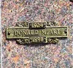 ART, DONALD M. - Benton County, Arkansas | DONALD M. ART - Arkansas Gravestone Photos