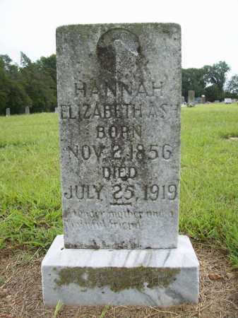 ASH, HANNAH ELIZABETH - Benton County, Arkansas | HANNAH ELIZABETH ASH - Arkansas Gravestone Photos