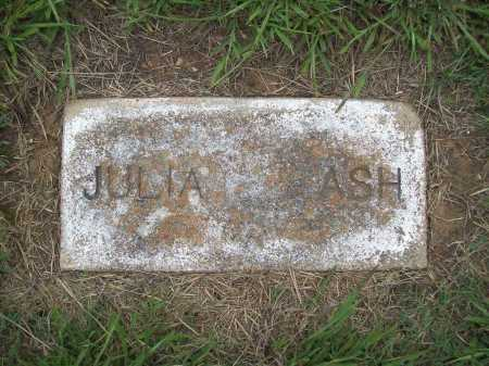 ASH, JULIA - Benton County, Arkansas | JULIA ASH - Arkansas Gravestone Photos