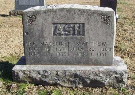 ASH, LEE MADELINE - Benton County, Arkansas | LEE MADELINE ASH - Arkansas Gravestone Photos