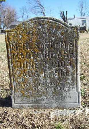 ASH, MERL - Benton County, Arkansas | MERL ASH - Arkansas Gravestone Photos