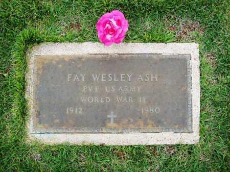 ASH (VETERAN WWII), FAY WESLEY - Benton County, Arkansas | FAY WESLEY ASH (VETERAN WWII) - Arkansas Gravestone Photos