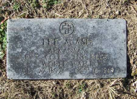 ASH (VETERAN WWI), LEE A - Benton County, Arkansas | LEE A ASH (VETERAN WWI) - Arkansas Gravestone Photos