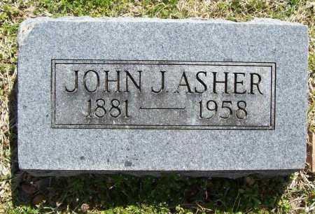 ASHER, JOHN J. - Benton County, Arkansas | JOHN J. ASHER - Arkansas Gravestone Photos