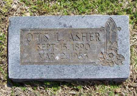 ASHER, OTIS L. - Benton County, Arkansas | OTIS L. ASHER - Arkansas Gravestone Photos