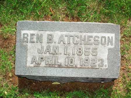 ATCHESON, BEN B. - Benton County, Arkansas | BEN B. ATCHESON - Arkansas Gravestone Photos