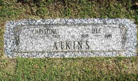 ATKINS, CHRISTINE - Benton County, Arkansas | CHRISTINE ATKINS - Arkansas Gravestone Photos