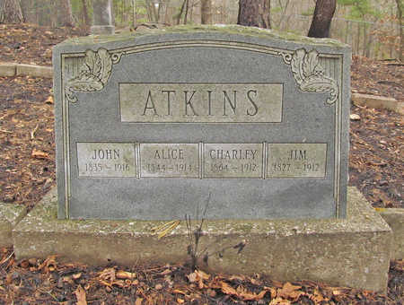 ATKINS, CHARLEY - Benton County, Arkansas | CHARLEY ATKINS - Arkansas Gravestone Photos