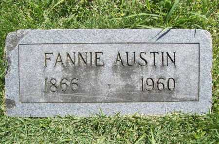 "AUSTIN, FRANCES PAULINE ""FANNIE"" - Benton County, Arkansas 