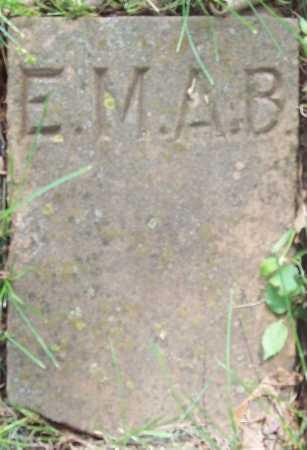 B., E. M. A. - Benton County, Arkansas | E. M. A. B. - Arkansas Gravestone Photos
