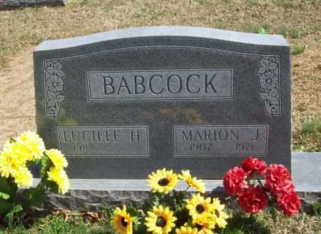 BABCOCK, MARION J. - Benton County, Arkansas | MARION J. BABCOCK - Arkansas Gravestone Photos