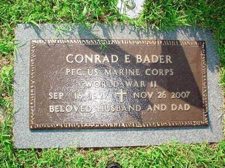 BADER (VETERAN WWII), CONRAD E. - Benton County, Arkansas | CONRAD E. BADER (VETERAN WWII) - Arkansas Gravestone Photos