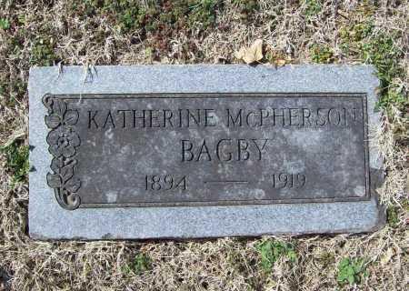 MCPHERSON BAGBY, KATHERINE - Benton County, Arkansas | KATHERINE MCPHERSON BAGBY - Arkansas Gravestone Photos
