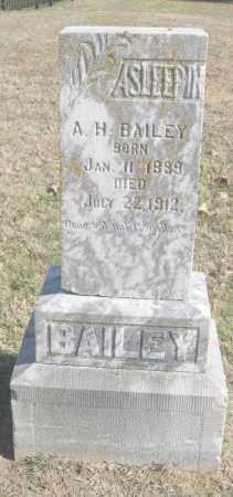 BAILEY, A. H. - Benton County, Arkansas | A. H. BAILEY - Arkansas Gravestone Photos