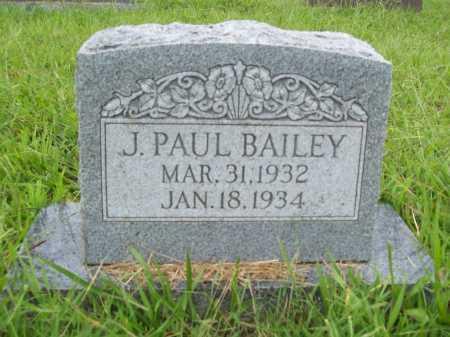 BAILEY, J. PAUL - Benton County, Arkansas | J. PAUL BAILEY - Arkansas Gravestone Photos