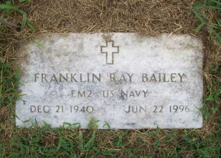 BAILEY (VETERAN), FRANKLIN RAY - Benton County, Arkansas | FRANKLIN RAY BAILEY (VETERAN) - Arkansas Gravestone Photos