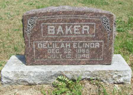 BAKER, DELILAH ELINOR - Benton County, Arkansas | DELILAH ELINOR BAKER - Arkansas Gravestone Photos