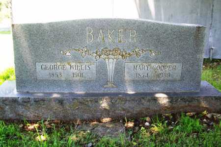 BAKER, GEORGE WILLIS - Benton County, Arkansas | GEORGE WILLIS BAKER - Arkansas Gravestone Photos