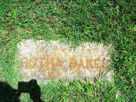 BAKER, RUTHA - Benton County, Arkansas | RUTHA BAKER - Arkansas Gravestone Photos