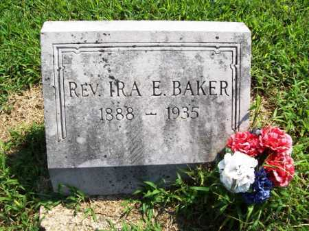 BAKER, REV. IRA E. - Benton County, Arkansas | REV. IRA E. BAKER - Arkansas Gravestone Photos
