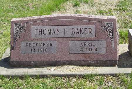 BAKER, THOMAS F. - Benton County, Arkansas | THOMAS F. BAKER - Arkansas Gravestone Photos