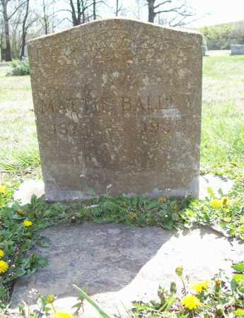 BALLEW, MATTIE - Benton County, Arkansas | MATTIE BALLEW - Arkansas Gravestone Photos