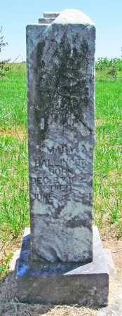 BALLINGER, MARY - Benton County, Arkansas | MARY BALLINGER - Arkansas Gravestone Photos