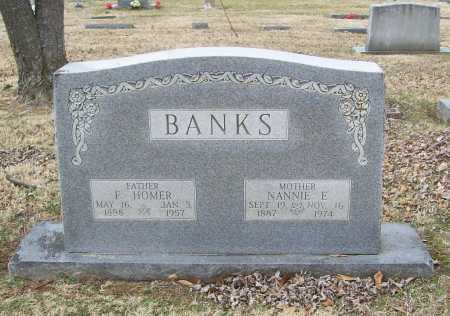 BANKS, F. HOMER - Benton County, Arkansas | F. HOMER BANKS - Arkansas Gravestone Photos