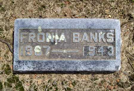 BANKS, FRONIA - Benton County, Arkansas | FRONIA BANKS - Arkansas Gravestone Photos