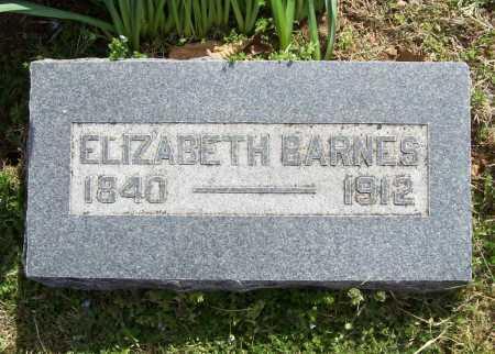 BARNES, ELIZABETH - Benton County, Arkansas | ELIZABETH BARNES - Arkansas Gravestone Photos