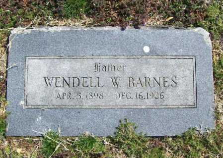 BARNES, WENDELL W. - Benton County, Arkansas | WENDELL W. BARNES - Arkansas Gravestone Photos