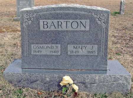 BARTON, OSMOND Y. - Benton County, Arkansas | OSMOND Y. BARTON - Arkansas Gravestone Photos