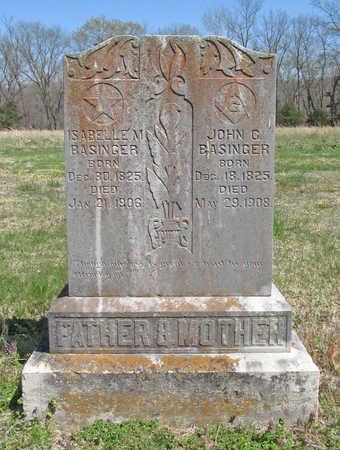 BASINGER, ISABELLA MALINDA - Benton County, Arkansas | ISABELLA MALINDA BASINGER - Arkansas Gravestone Photos