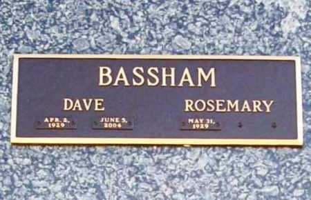 BASSHAM (VETERAN), DAVE - Benton County, Arkansas | DAVE BASSHAM (VETERAN) - Arkansas Gravestone Photos