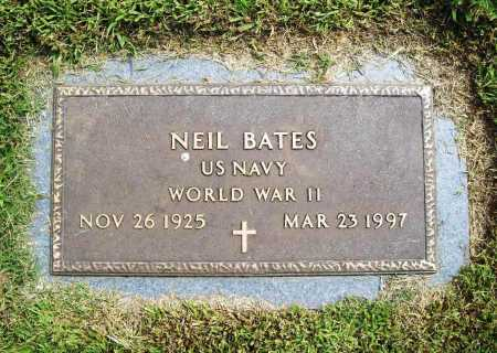 BATES (VETERAN WWII), NEIL - Benton County, Arkansas | NEIL BATES (VETERAN WWII) - Arkansas Gravestone Photos