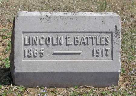 BATTLES, LINCOLN E. - Benton County, Arkansas | LINCOLN E. BATTLES - Arkansas Gravestone Photos