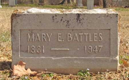 BATTLES, MARY E. - Benton County, Arkansas | MARY E. BATTLES - Arkansas Gravestone Photos