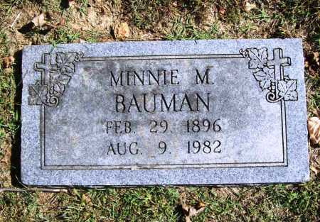 BAUMAN, MINNIE M. - Benton County, Arkansas | MINNIE M. BAUMAN - Arkansas Gravestone Photos