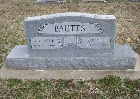 BAUTTS, DEXTER L. DECK - Benton County, Arkansas | DEXTER L. DECK BAUTTS - Arkansas Gravestone Photos