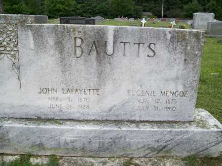 MENGOZ BAUTTS, EUGENIE - Benton County, Arkansas | EUGENIE MENGOZ BAUTTS - Arkansas Gravestone Photos