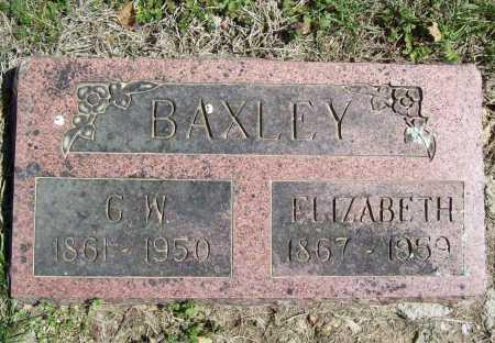 BAXLEY, ELIZABETH - Benton County, Arkansas | ELIZABETH BAXLEY - Arkansas Gravestone Photos