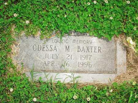 BAXTER, ODESSA M. - Benton County, Arkansas | ODESSA M. BAXTER - Arkansas Gravestone Photos