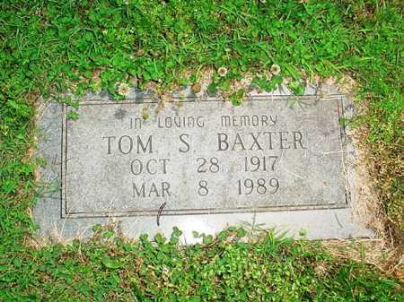 BAXTER, TOM S. - Benton County, Arkansas | TOM S. BAXTER - Arkansas Gravestone Photos