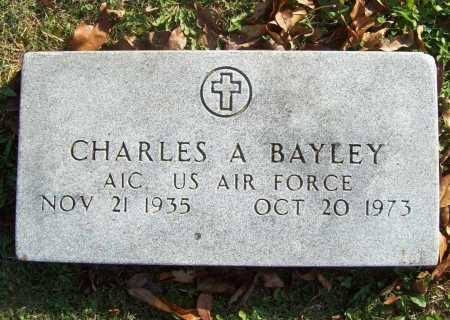 BAYLEY (VETERAN), CHARLES A - Benton County, Arkansas | CHARLES A BAYLEY (VETERAN) - Arkansas Gravestone Photos