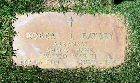 BAYLEY (VETERAN WWII), ROBERT L. - Benton County, Arkansas | ROBERT L. BAYLEY (VETERAN WWII) - Arkansas Gravestone Photos
